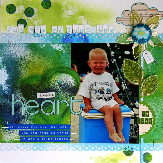Sweetheart, layout, paper by nathalie Kalbach