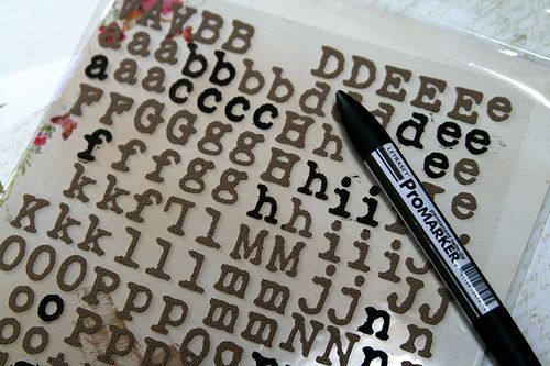 Canvas letters promarker