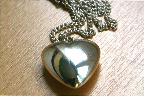 Heart necklace before (TA metal)