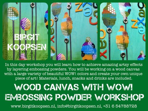 Wood canvas with wow workshop banner