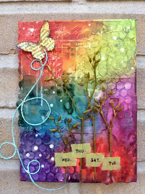 Summer Breeze.texture paste canvas