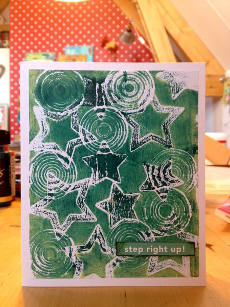 Gelli plate card CS blog hop