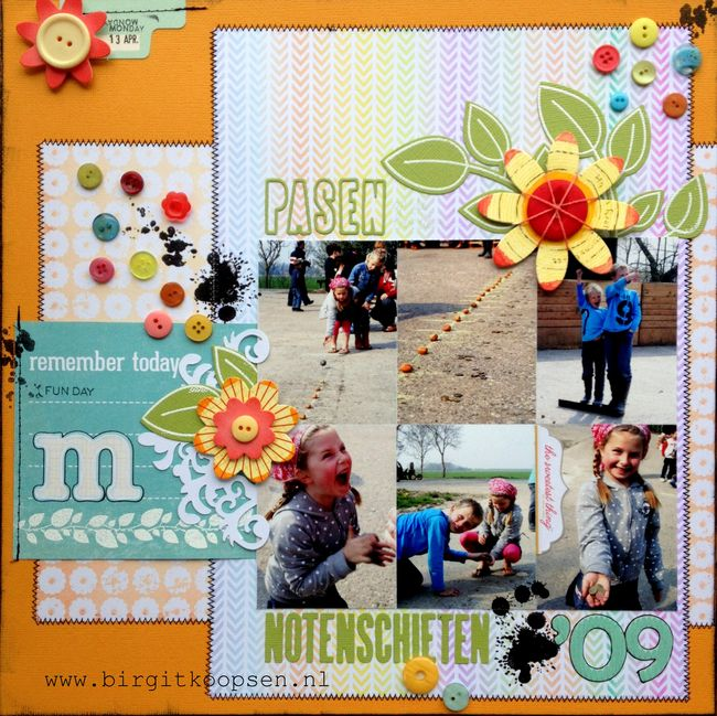 Easter layout - free papers - spring 2013