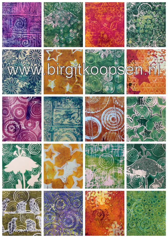 Gelli plate collage CS blog hop