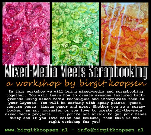Mixed media layout workshop banner