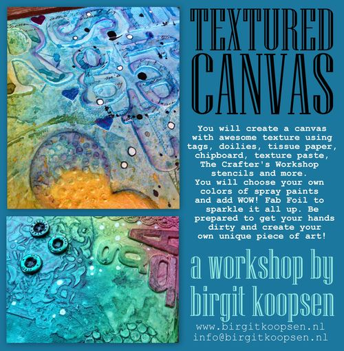 Banner textured canvas workshop