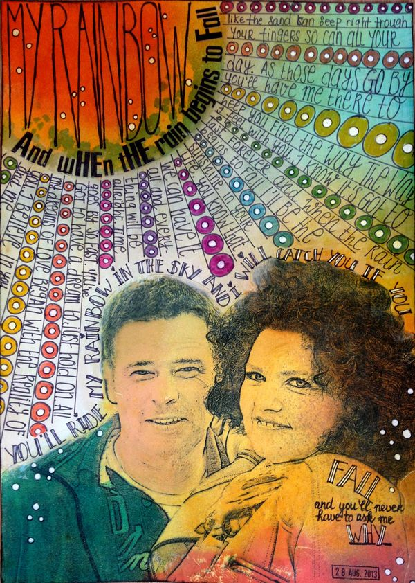 You'll ride my rainbow - art journaling - birgitkoopsen