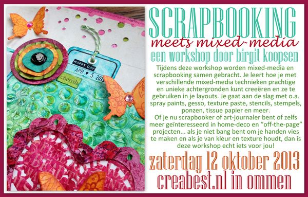 Mixed media layout workshop creabest