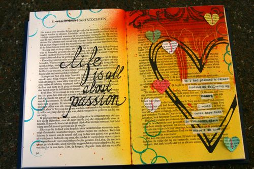 Art journal page passion