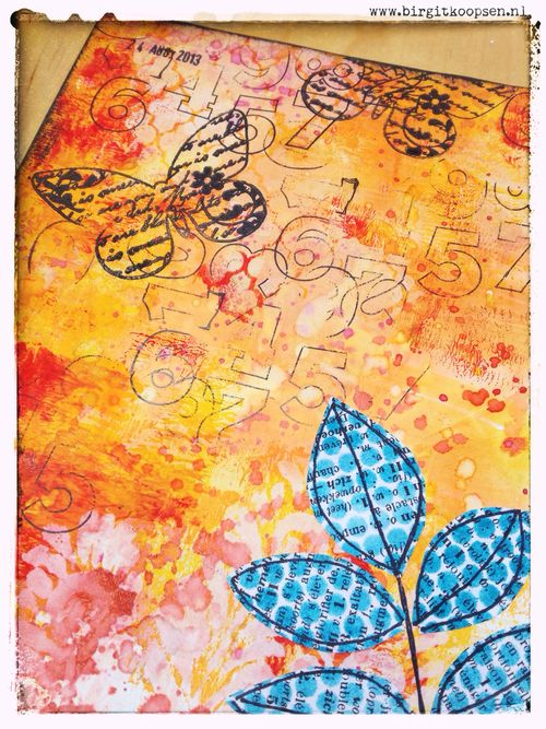 Dreamer - Art Journal Page - Birgit Koopsen.detail1