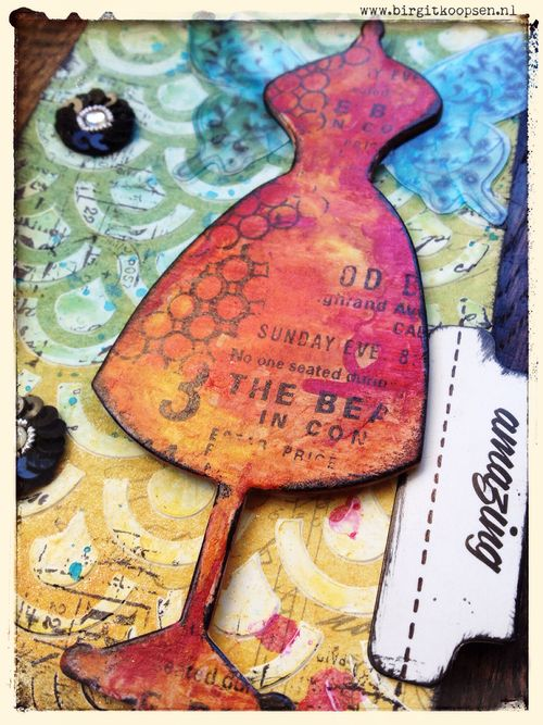 Miracles - mixed media heart tag.detail1 - birgit koopsen
