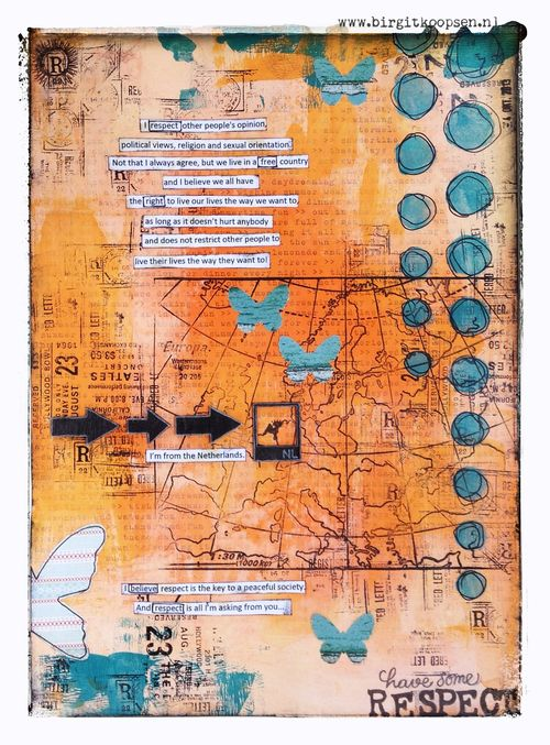 Respect - art journal - birgit koopsen