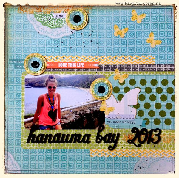 Hanauma bay - layout for Scrap 365 - birgit koopsen