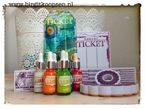 Ticket to paradise - aladine IZINK - birgit koopsen.products