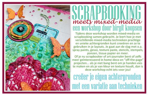 Scrapbooking meets mixed-media - birgit koopsen