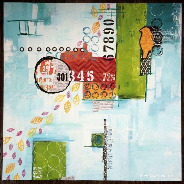 Songbird - mixed media - Birgit Koopsen 2014