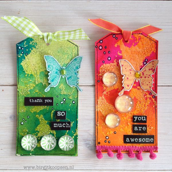 Adhesive Sheets - Embossed Texture - final tags - Birgit Koopsen for SAby3L