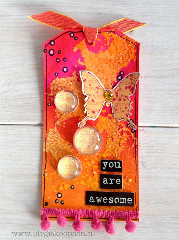 Adhesive Sheets - Embossed Texture - final tags.orange - Birgit Koopsen for SAby3L