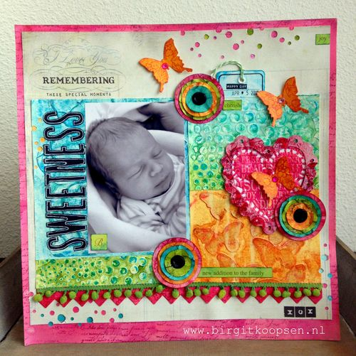 Mixed media layout workshop