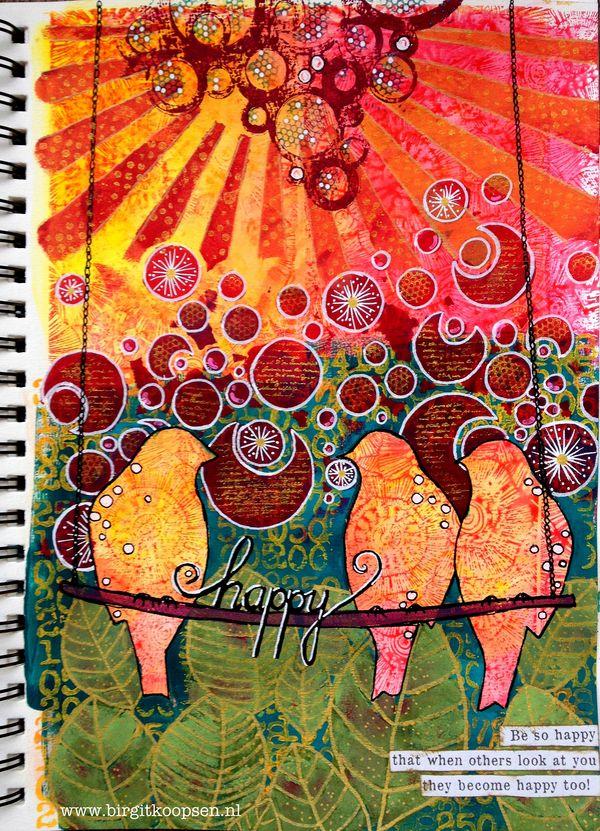 Happy art journal-Carabelle-BirgitKoopsen-final page