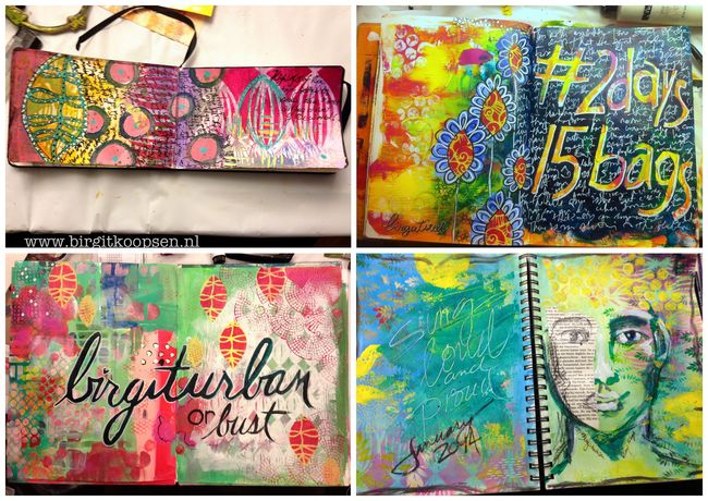 Art journal round robin results