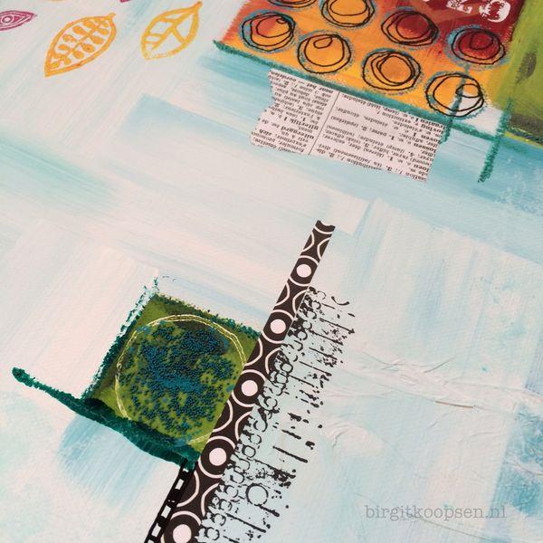 Songbird - mixed media - Birgit Koopsen 2014.detail 2