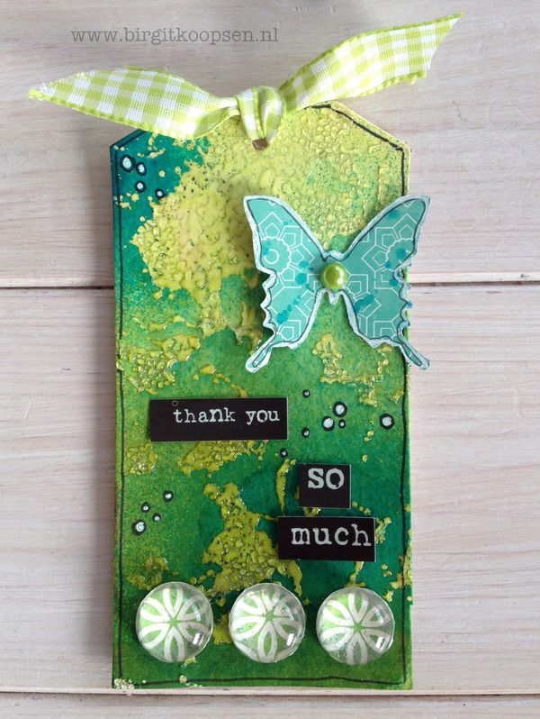 Adhesive Sheets - Embossed Texture - final tag.green - Birgit Koopsen for SAby3L
