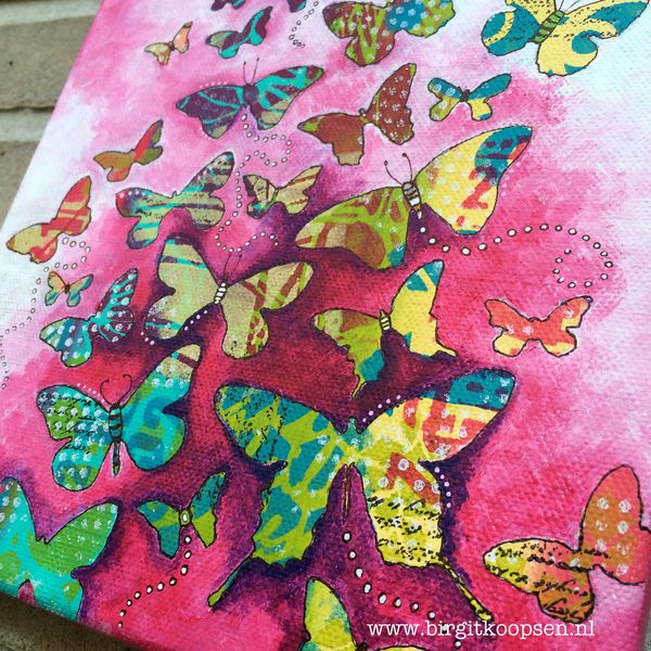 Butterfly canvas - close up