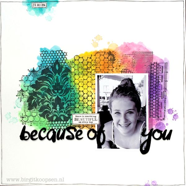 Birgit Koopsen - my stamps with Carabelle - Because of you