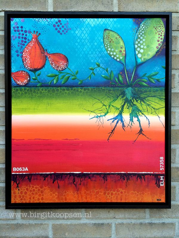 Seedling - Birgit Koopsen - acrylic painting