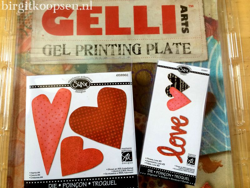 Gelli plate and sizzix dies