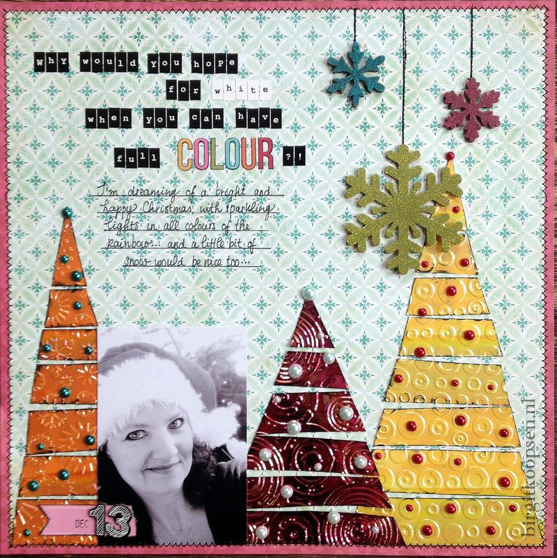 Colorful christmas layout - HdP - birgit koopsen