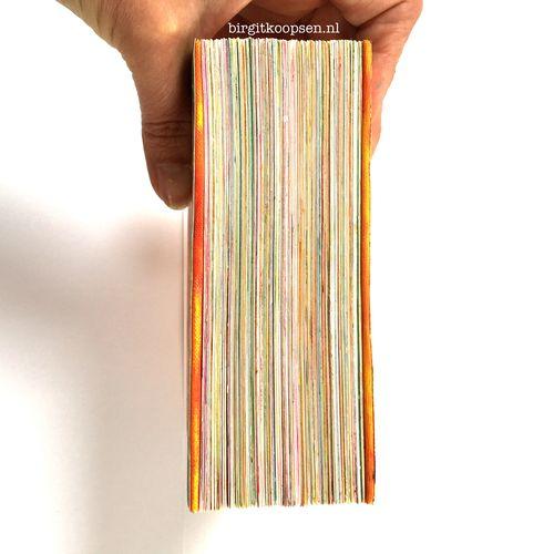Chunky gelli printed art journal by birgit koopsen 5