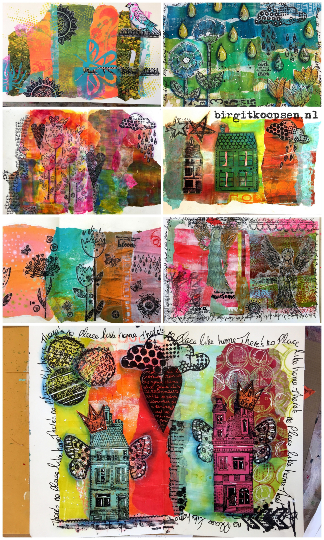 North East Art Workshops collage 2 - birgit koopsen
