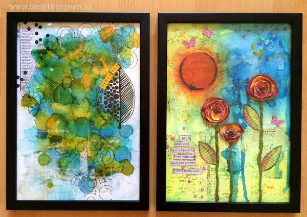 Art journal pages for exposition 1 - Birgit Koopsen