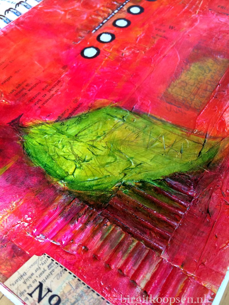 Art journal - exploring acrylic paint - birgit koopsen