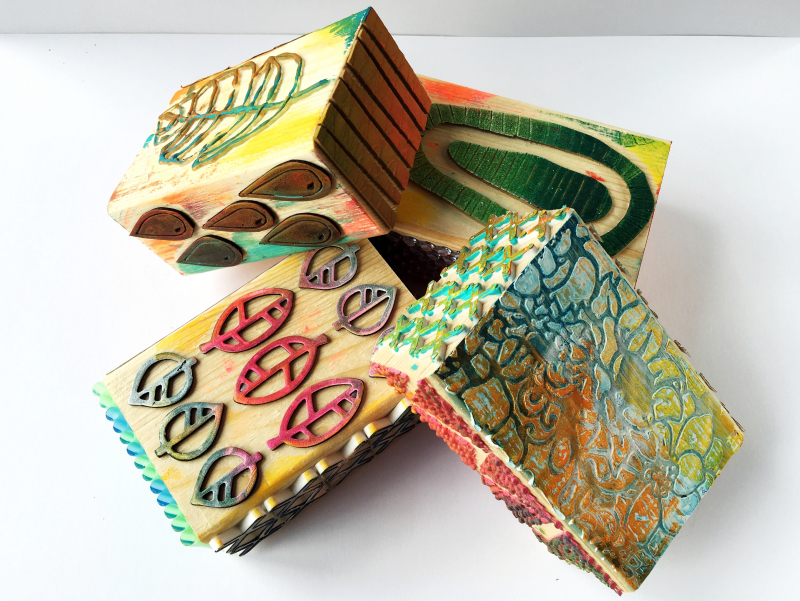Gelli Arts – Texture Blocks 7 – Birgit Koopsen