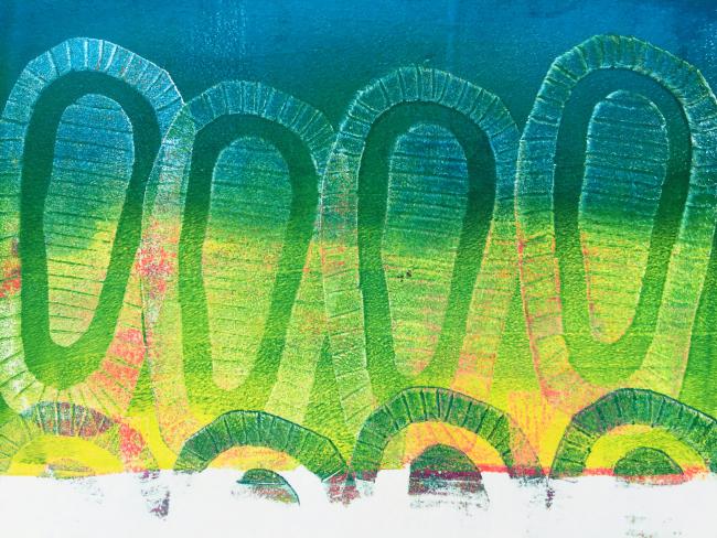 Gelli Arts – Texture Blocks 18 – Birgit Koopsen
