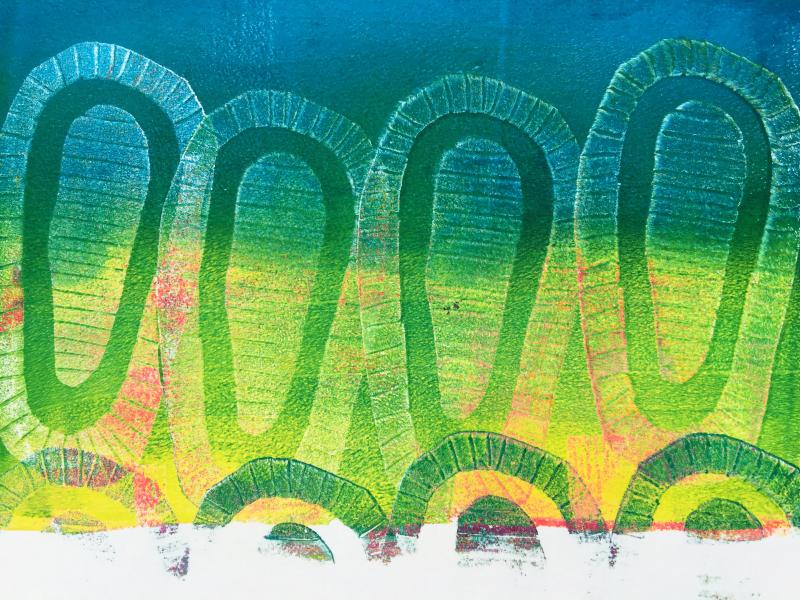 Gelli Arts – Texture Blocks 17 – Birgit Koopsen