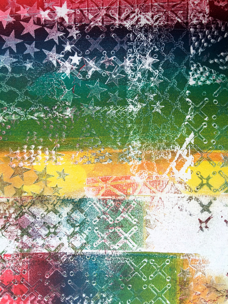 Gelli Arts – Texture Blocks 6 – Birgit Koopsen