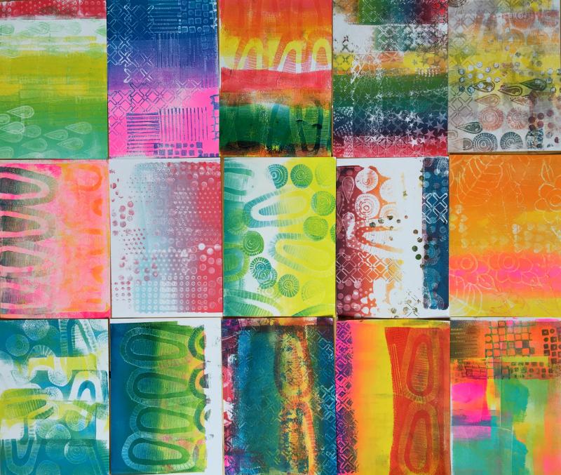 Gelli Arts – Texture Blocks 20 – Birgit Koopsen