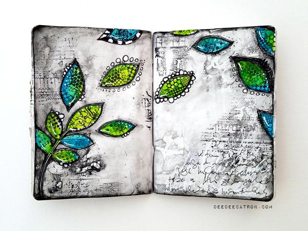 DeeDee Catron - Art Journal Spread Intentions1