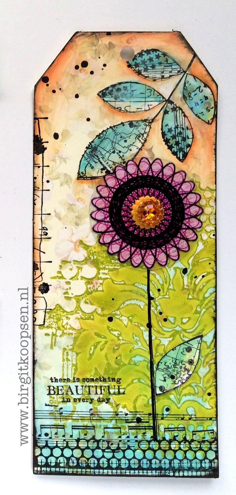 Birgit Koopsen - my stamps with Carabelle - something beautiful tag