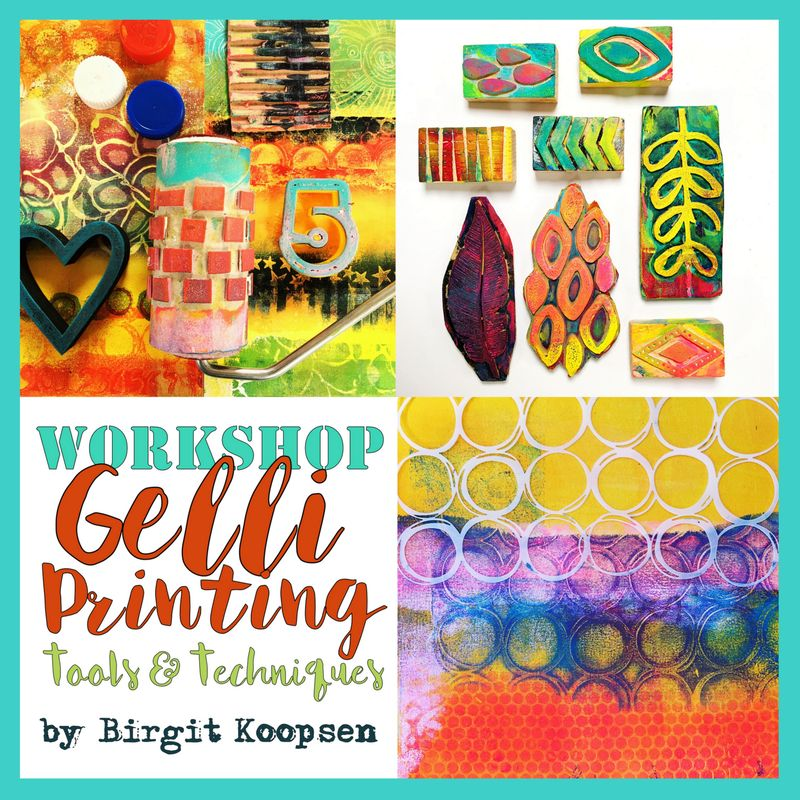 Flyer workshop gelli tools